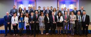 Foto de familia de los premiados en los galardones / Travelranking © Pablo G. Sarompas