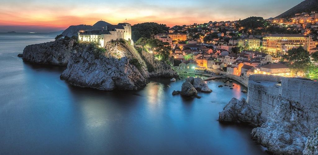 Dubrovnik anochecer