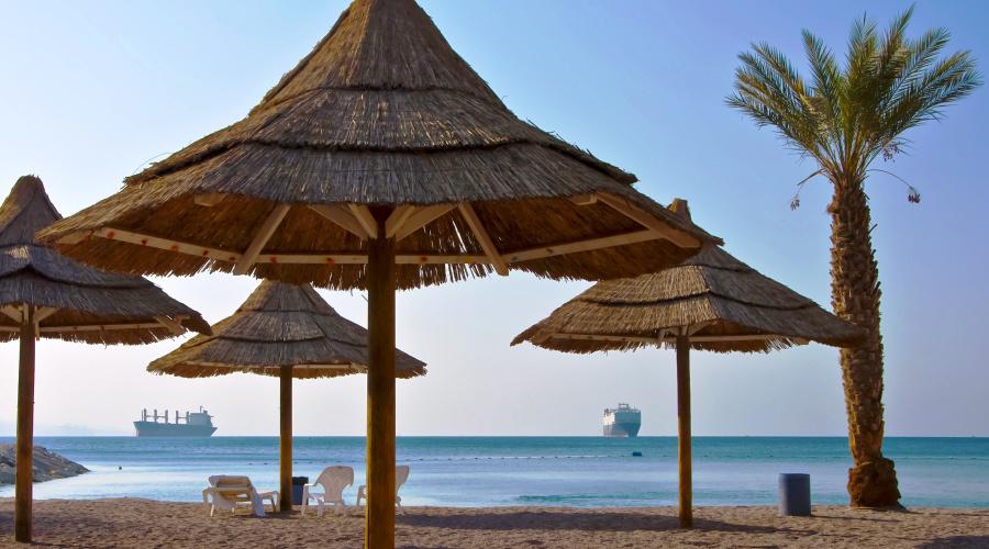 Las playas del Mar Rojo, en Aqaba.