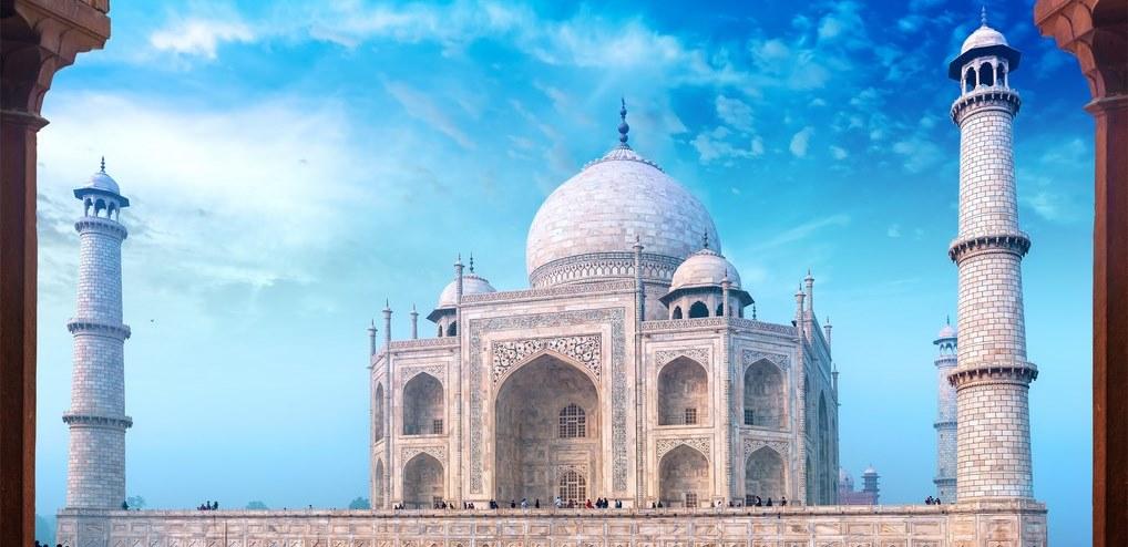 El Taj Mahal, una de las maravillas de Asia más famosas en todo el mundo.