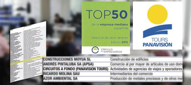 Panavisión Tours en el Top 50 de empresas medianas de España