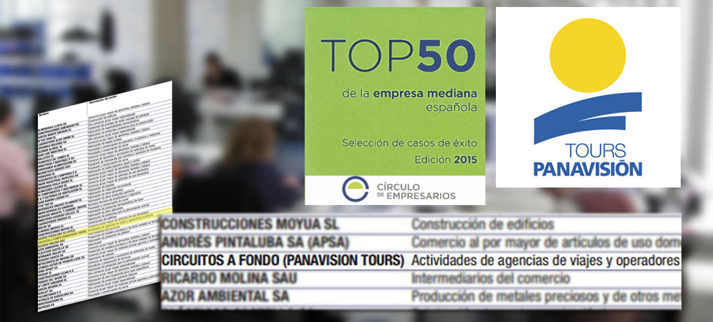 Panavisión Tours en el Top 50 de empresas medianas