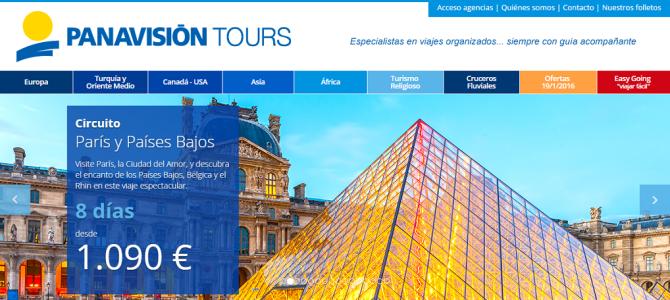 Panavisión Tours estrena su nueva página web