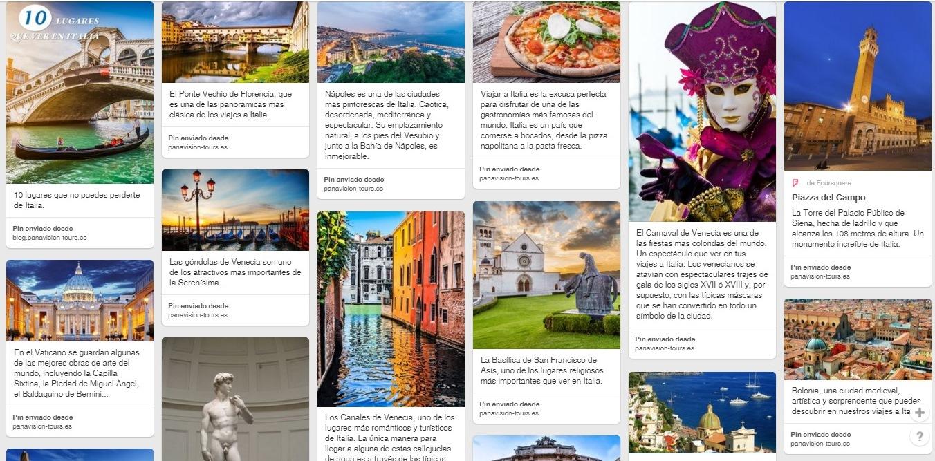 Panavisión Tours estrena su nuevo perfil de Pinterest.