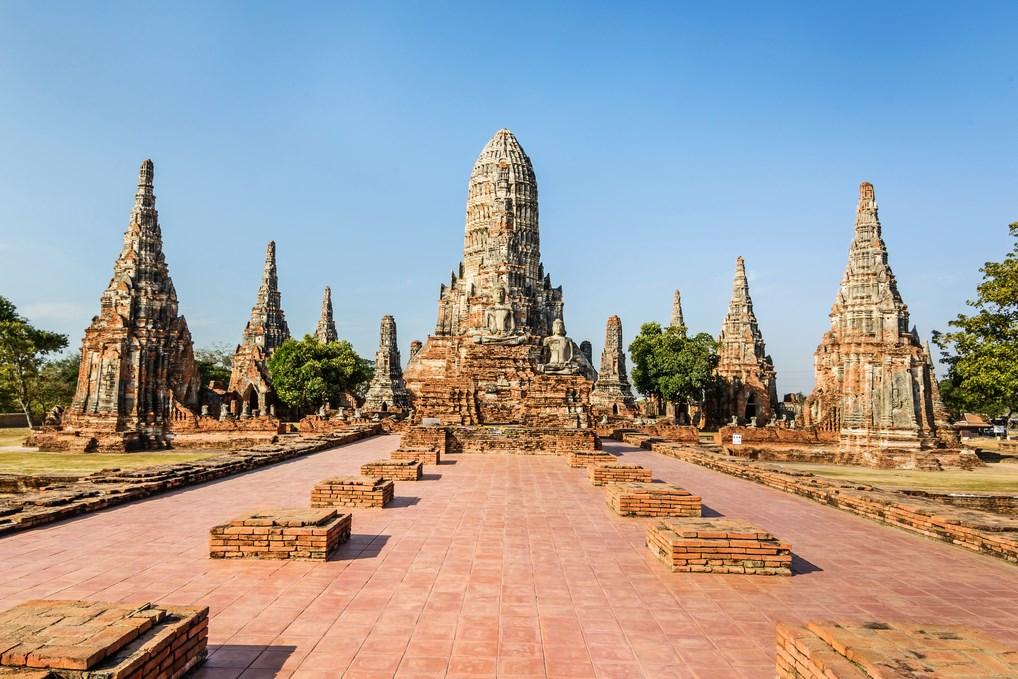 La ciudad de Ayuthaya a pocos kilómetros de Bangkok, uno de los lugares turísticos más importantes de la zona
