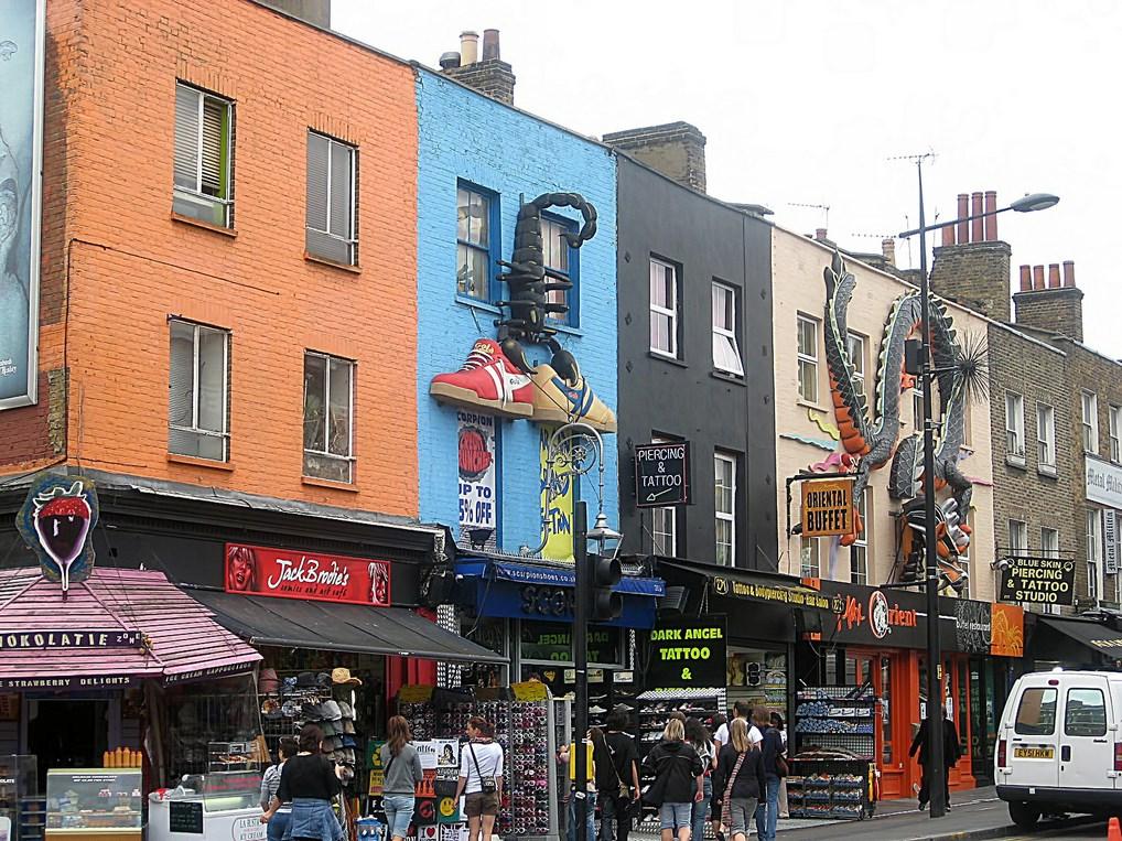 El Barrio londinense de Camden es uno de los más conocidos por su ambiente bohemio.