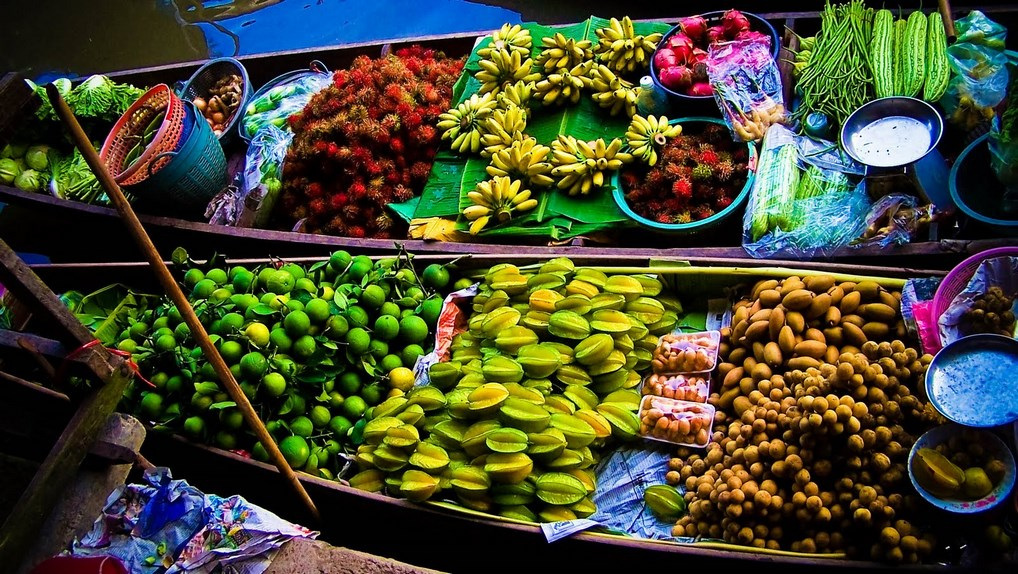 Alrededor de Bangkok encontrarás numerosos mercados flotantes