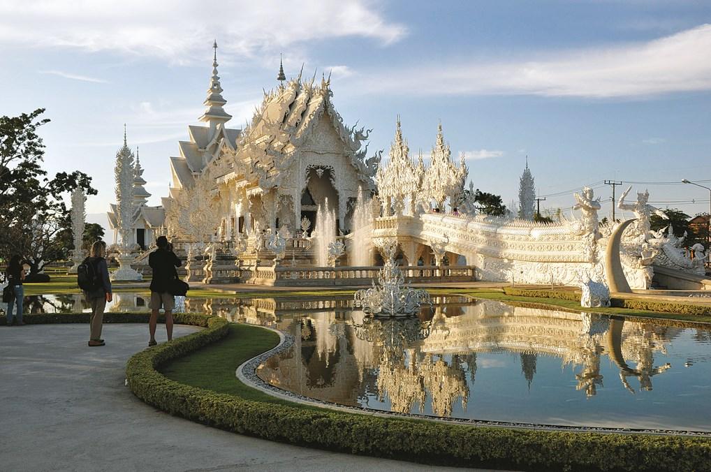 El Templo Blanco de Chiang Mai te dejará boquiabierto.