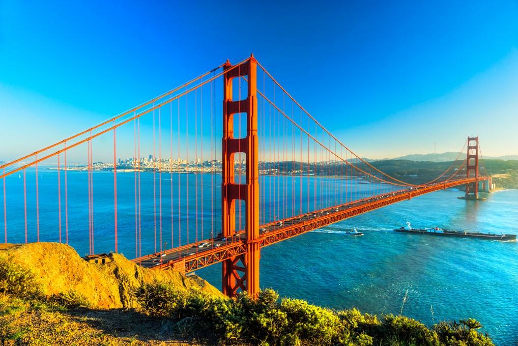 El Golden Gate es uno de los monumentos más conocidos de la Costa Oeste de Estados Unidos.