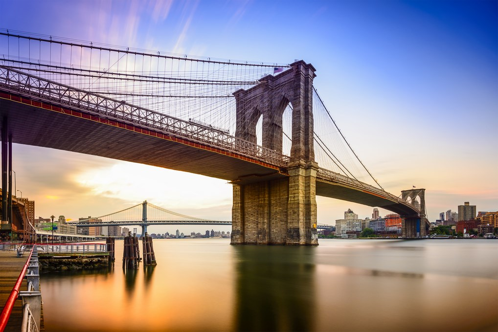 Forma parte de la silueta de la Gran Manzana. Por eso el puente de Brooklyn es uno de los más emblemáticos del mundo.