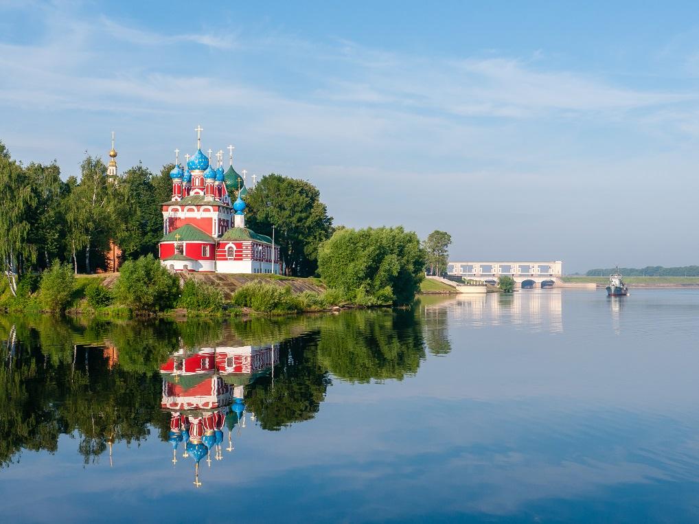 Úglich, en el Anillo de Oro, es uno de los lugares imprescindibles que ver en un Crucero por el Volga.