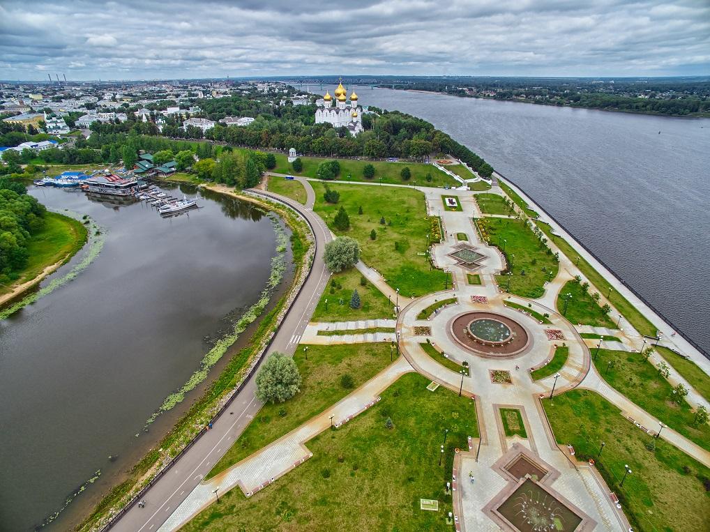 Yaroslavl, a orillas del Volga, cuenta con un conjunto patrimonial espectacular.
