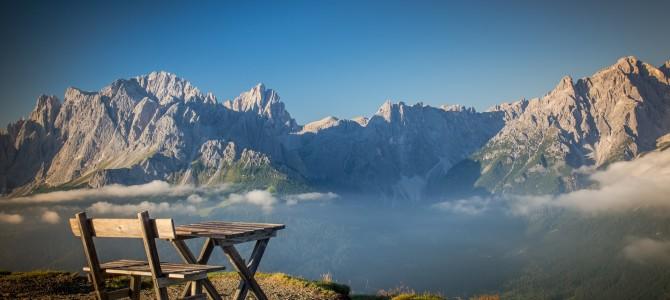 Ruta por los montes Dolomitas